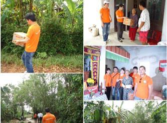 In missione di aiutare le vittime del tifone di Wutip