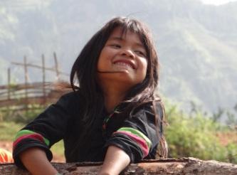 Glückseligkeit vor dem neuen Schuljahr 2012 im Dorf Coc Dong