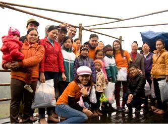 Ein glücklicher Frühling im Dorf Pac Khoang (Cao Bang), Januar 2013